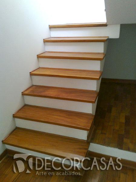 Escaleras escaleras de madera per escaleras revestidas - Escaleras con peldanos de madera ...
