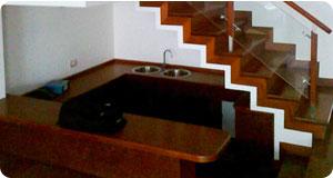 Enchape de escalera con madera pumaquiro como ver n por for Escalera madera sodimac