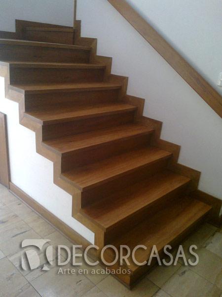 Escaleras escaleras de madera per escaleras revestidas for Escalones de madera para escalera de cemento