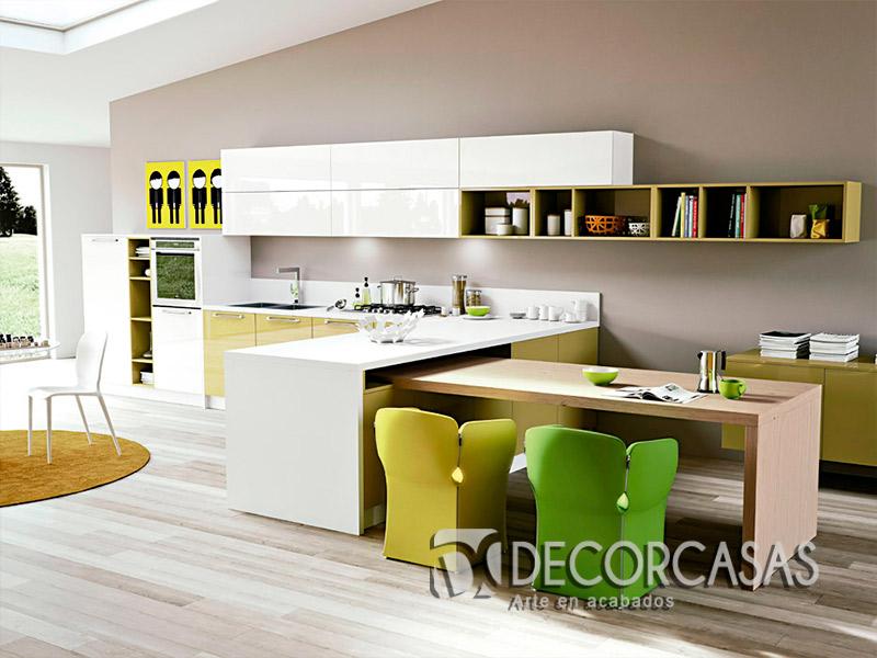 Muebles de cocina en melamine per muebles de melamine for Muebles cocina pequena