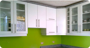 Muebles de cocina en melamine per muebles de melamine for Lavaplatos para esquinas