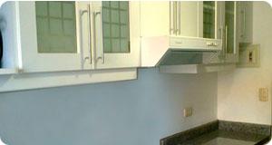 Muebles de cocina con espacio para microondas