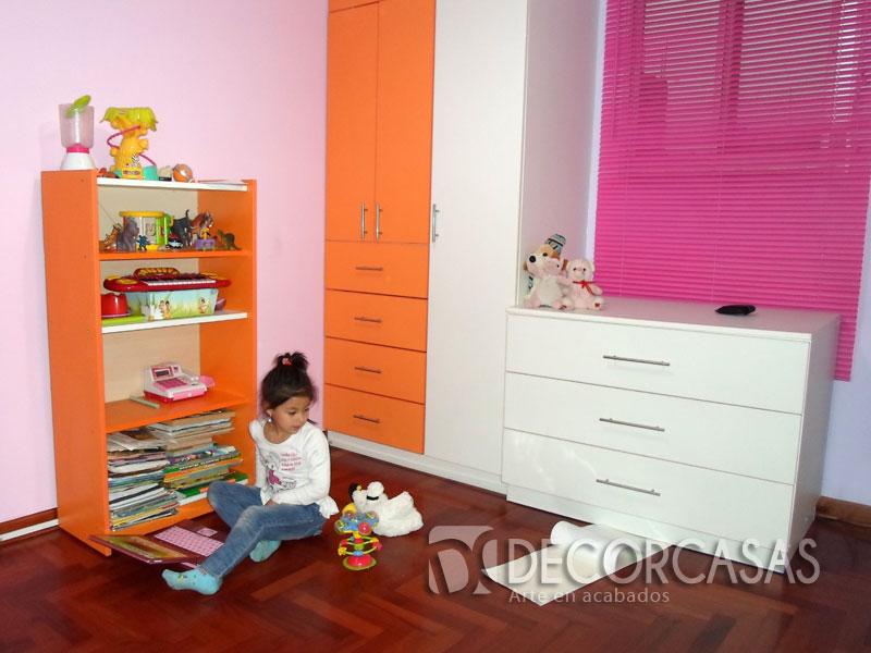 Muebles de dormitorio closet de melamine roperos de for Muebles dormitorio nina