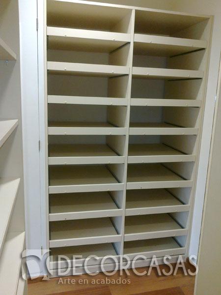 Muebles de dormitorio closet de melamine roperos de for Como hacer una zapatera de madera paso a paso