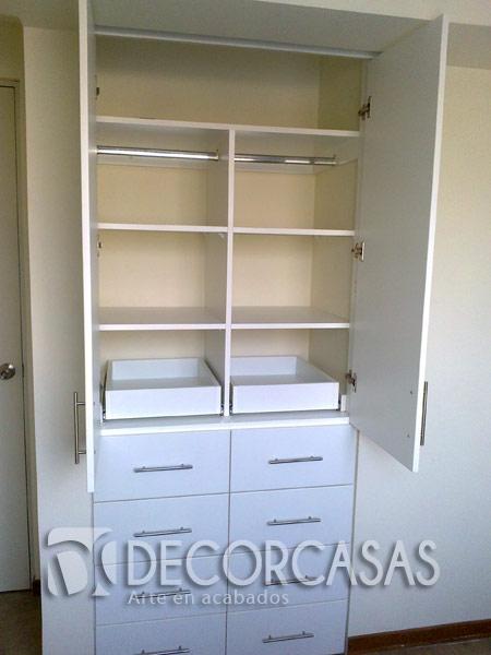 Muebles de dormitorio closet de melamine roperos de for Roperos para cuartos de ninas