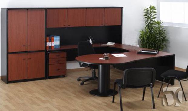 Muebles para oficinas en melamine escritorios de melamine for Muebles escritorio oficina